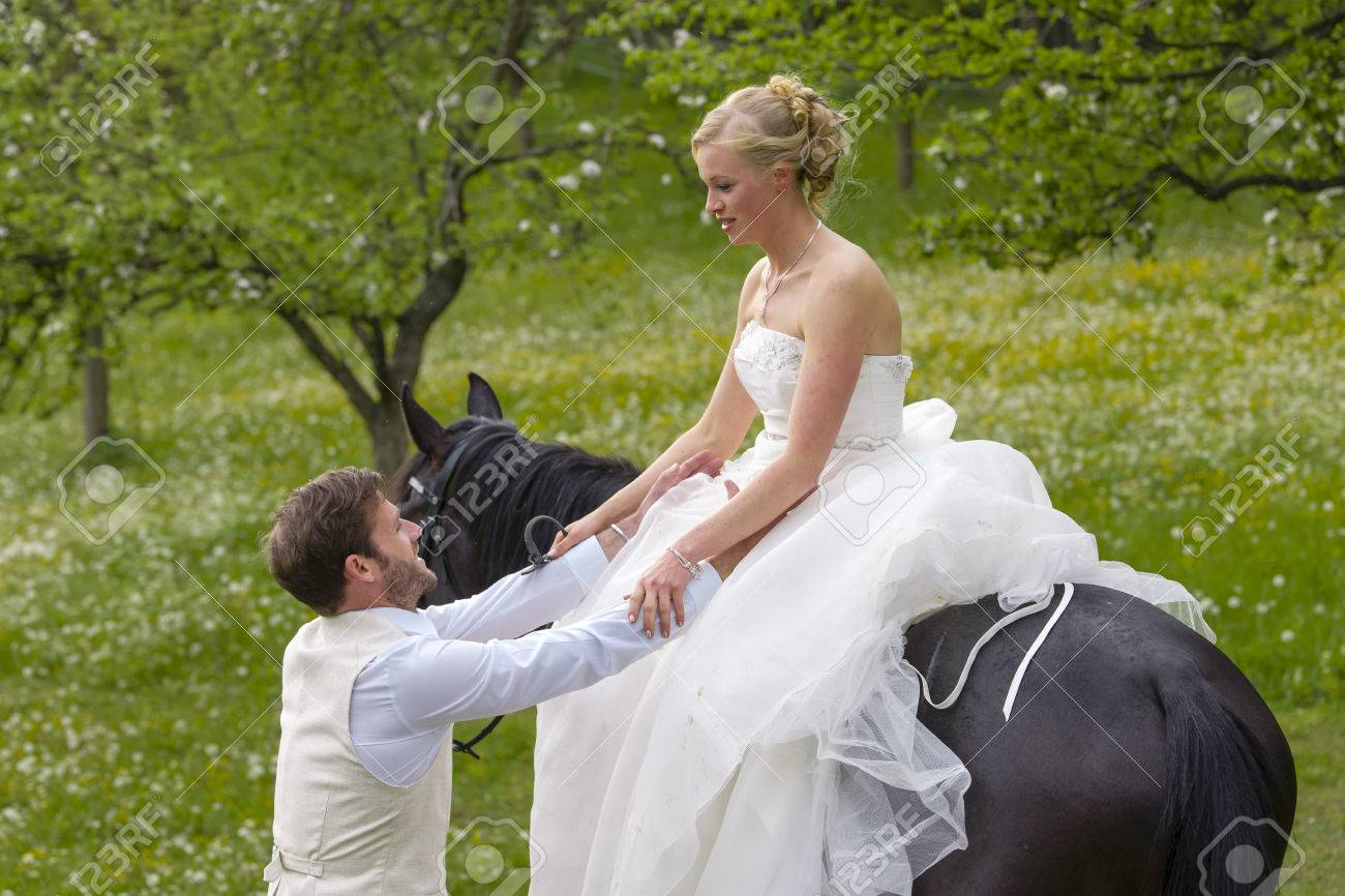 Robe mariage cheval
