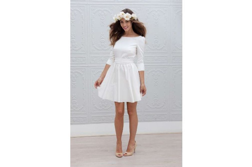 Mariage champetre robe courte