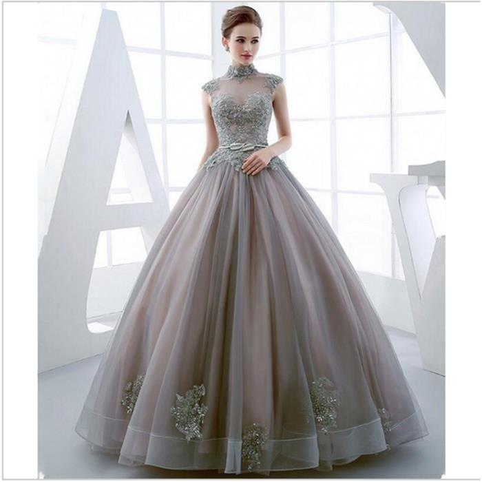 Robe longue mariage luxe