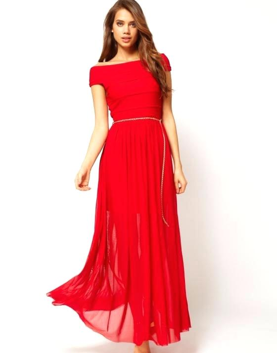 Robe mariage invitée rouge